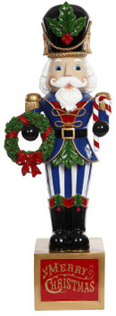 CLASSIC NUTCRACKER W/WREATH - 29-03372-BLU