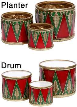 HOLIDAY PLANTER DRUMS- 63-12567