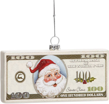 SANTAS MONEY ORN