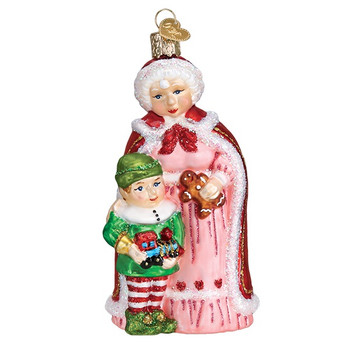 Mrs. Claus with Elf by Old World Christmas 10232
