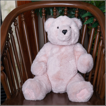 jointed pink bear by ditz