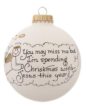 Miss me boy bereavement ornament