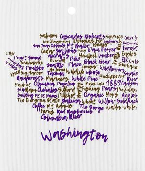WASHINGTON WORDS WASH TOWEL - 56-882