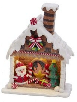 Santa w/Tree in Gingerhouse