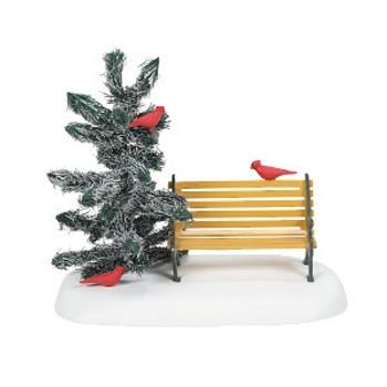 CARDINAL CHRISTMAS BENCH-6007663