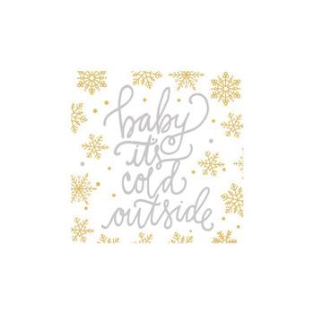 BABY IT'S COLD NAPKIN - 9324223C