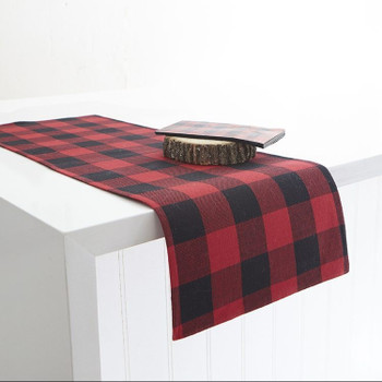 CHECKERED TABLE RUNNER RED - 1083312