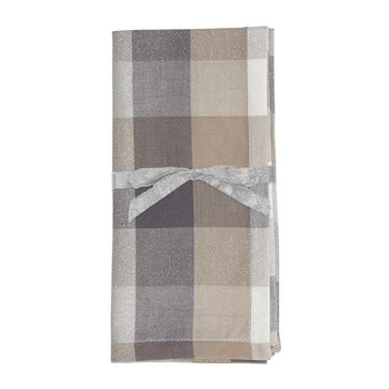 FROSTED CHECKERED NAPKINS - 0937502