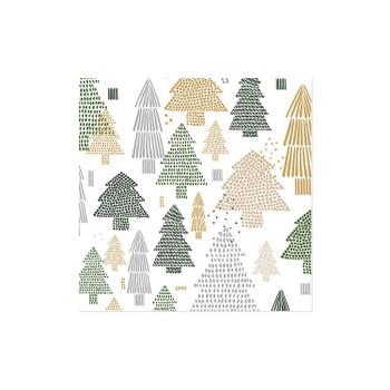 TREE REPEAT LUNCHEON NAPKIN - 9376004L