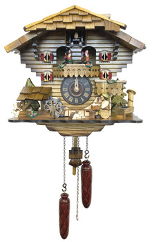 beer drinker with twirling dancers cuckoo clock
