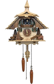 deer with chalet cuckoo clock from the black forest of Germany by Alexander Taron
