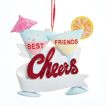 BEST FRIEND CHEERS COCKTAIL ORN - A2040