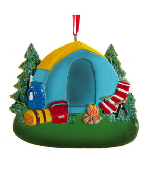 RESIN CAMPING TENT ORN - A2062