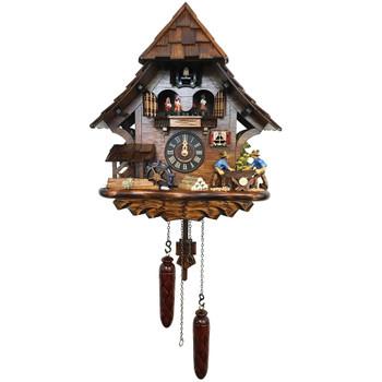 CHALET WOODCUTTERS CUCKOO CLOCK - 4927QMT