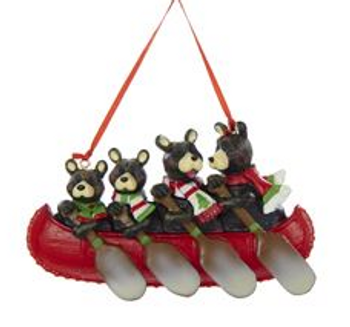 4 CANOE BEAR FAMILY