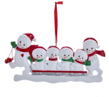 6 SNOWMAN SLED FAMILY