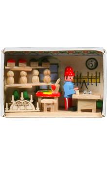 miniature matchbox scene with toymaker 028-141