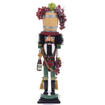 WINE BARREL HAT NUTCRACKER - HA0278