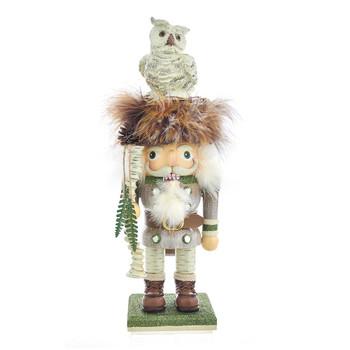 WOODSMAN WITH OWL NUTCRACKER - HA0417