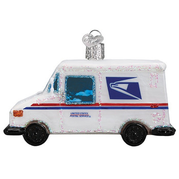 USPS Mail Truck by Old World Christmas 46086