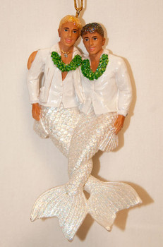 Grooms Happy Together Christmas ornament by December Diamonds - 90824