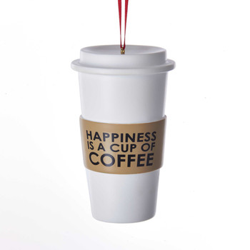 Happiness Coffee Cup Orn