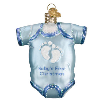 Blue Baby Onesie by Old World Christmas 32339