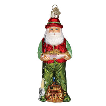 Fly Fishing Santa by Old World Christmas 40209