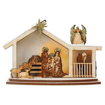 Ginger Nativity by Old World Christmas 80020 GC122