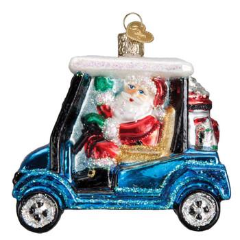 Golf Cart Santa by Old World Christmas 40287