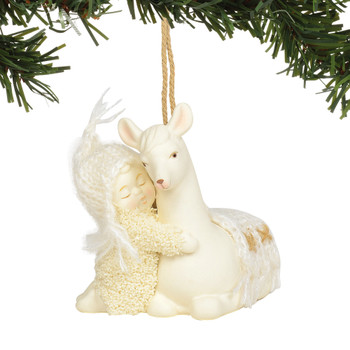 peaceful kingdom llama ornament by snowbabies snowbaby and llama hug