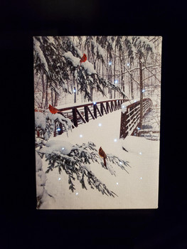 Bridge with cardinal by Oak Street OSW186411