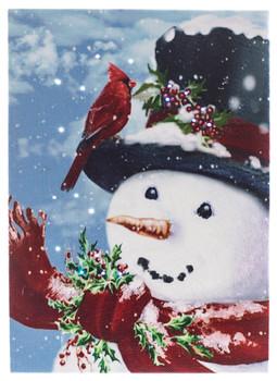 SNOWMAN W/CARDINAL BY OAKSTREET OSW186470