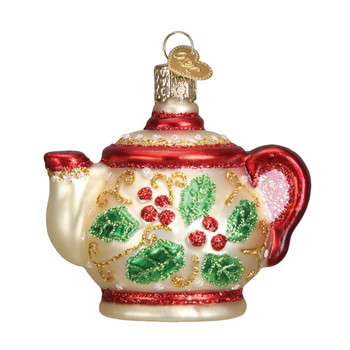 Holly Teapot by Old World Christmas 32247