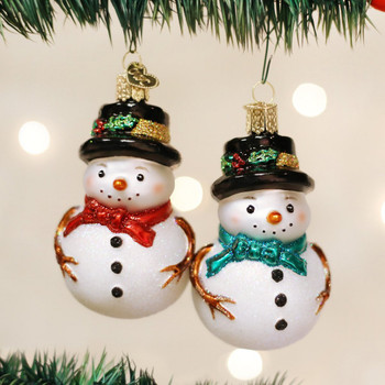 Holly Hat Snowman by Old World Christmas  24159