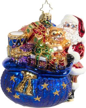 Christopher Radko Santa's Christmas Surprise Christmas Ornament
