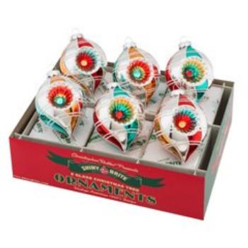 "Nostalgic Holiday 6 Count 3.25"" Decorated Reflector Tulips"
