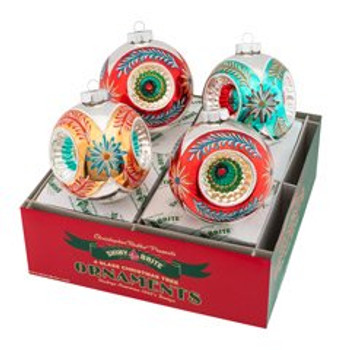 """Nostalgic Holiday 4 Count 4"""" Rounds With Triple Reflector"""