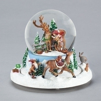 ELVES CHASING DEER DOME - 133580
