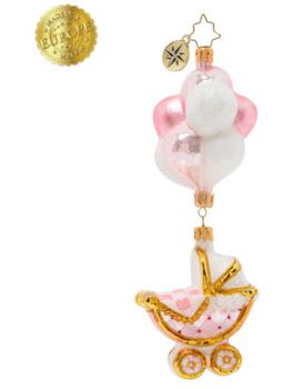 Baby Girl Buggy & Balloons.