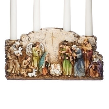 NATIVITY WALL CANDLE HOLDER - 633266