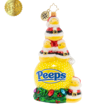 Dressed to the nines in their finest Santa suits, these PEEPS® are ready to celebrate the holiday season! More than just stocking stuffers, these iconic chicks are eager to adorn your Christmas tree.