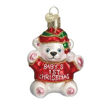 BABY'S FIRST CHRISTMAS TEDDY BEAR - 12093