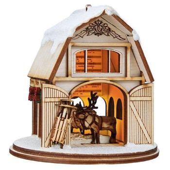 santas reindeer barn ginger cottage