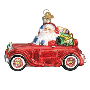 ANTIQUE CAR W/SANTA