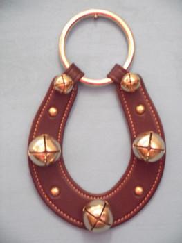 red horshoe sleigh bells door hanger