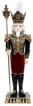 TALL CHRISTMAS NUTCRACKER - RED, GREEN & GOLD - 70 INCHES