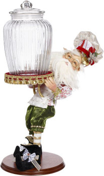 CONFECTIONERY ELF WITH JAR - 19 INCHES