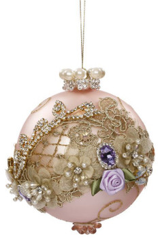 FLORAL JEWEL ORNAMENT - 7.5 INCHES