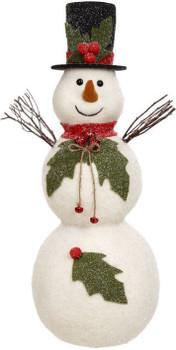 HOLLYBERRY SNOWMAN - MEDIUM, 29 INCHES
